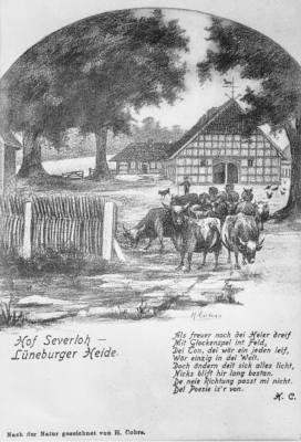 Bild mit Text vom Reiterhof Severloh vor 100Jahren