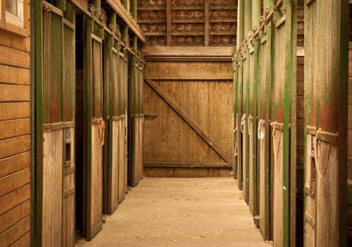 Die Stallgasse der mittleren Stallungen von Hof Severloh